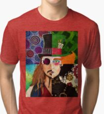 Johnny Depp Character Collage Tri-blend T-Shirt