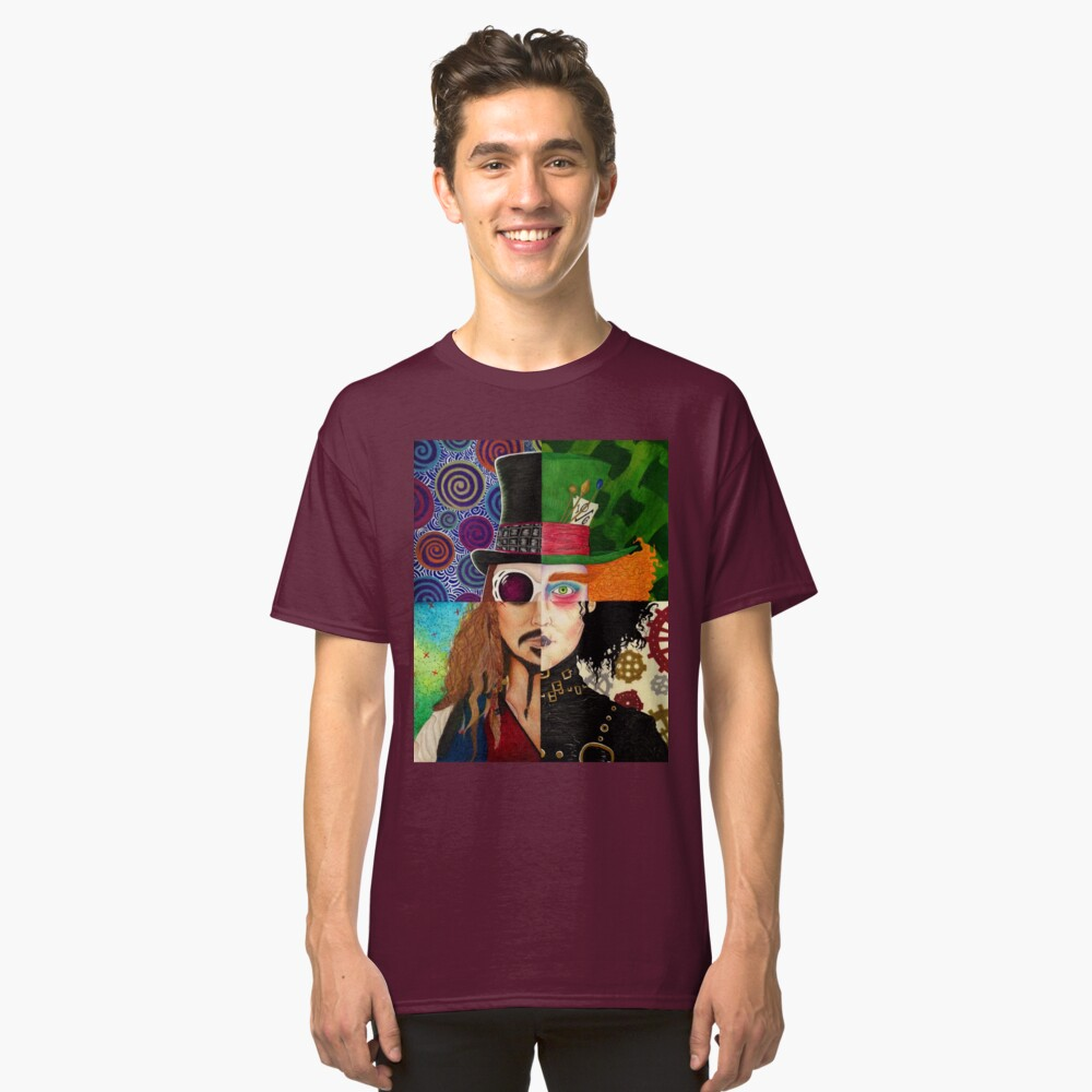 Johnny Depp Character Collage T Shirt By Vanessad16 Redbubble