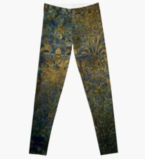 Grunge,damasks,rustic,worn,velvet,wall paper,victorian,damask Leggings