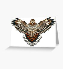 Beadwork Red-Tail Hawk Greeting Card