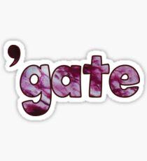 'gate Sticker