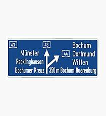 Bundesautobahn  Photographic Print