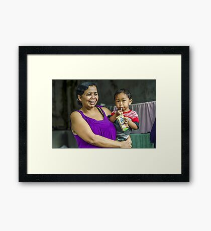 Ultra Milk with a Straw Framed Print