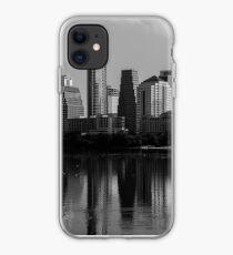 Austin Skyline Monochrome dark tones iPhone Case