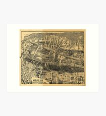 Vintage Map of Maplewood NJ (1910) Art Print