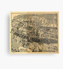 Vintage Map of Maplewood NJ (1910) Metal Print