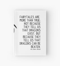 Neil Gaiman: Dragons Can Be Beaten (v2) Hardcover Journal