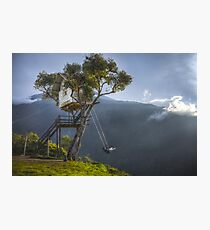 Swing at the end of the world Photographic Print