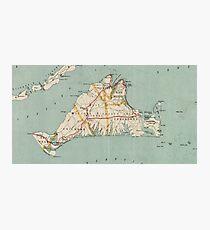 Vintage Map of Martha's Vineyard (1917) Photographic Print