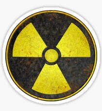 Beaten Radioactive Symbol - Hipster Geek Sticker