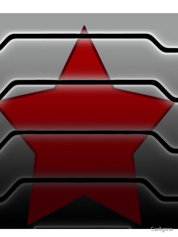 Winter Soldier Bucky Barnes Symbol Contrast Tank By Carilynne