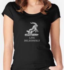 Live Deliciously Fitted Scoop T-Shirt