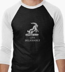Live Deliciously Baseball ¾ Sleeve T-Shirt