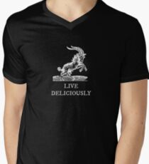 Live Deliciously Men's V-Neck T-Shirt
