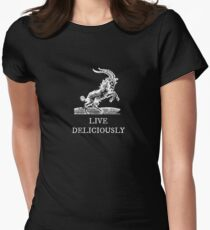 Live Deliciously Women's Fitted T-Shirt
