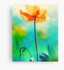 California Poppy Watercolor Fine Art Canvas Print