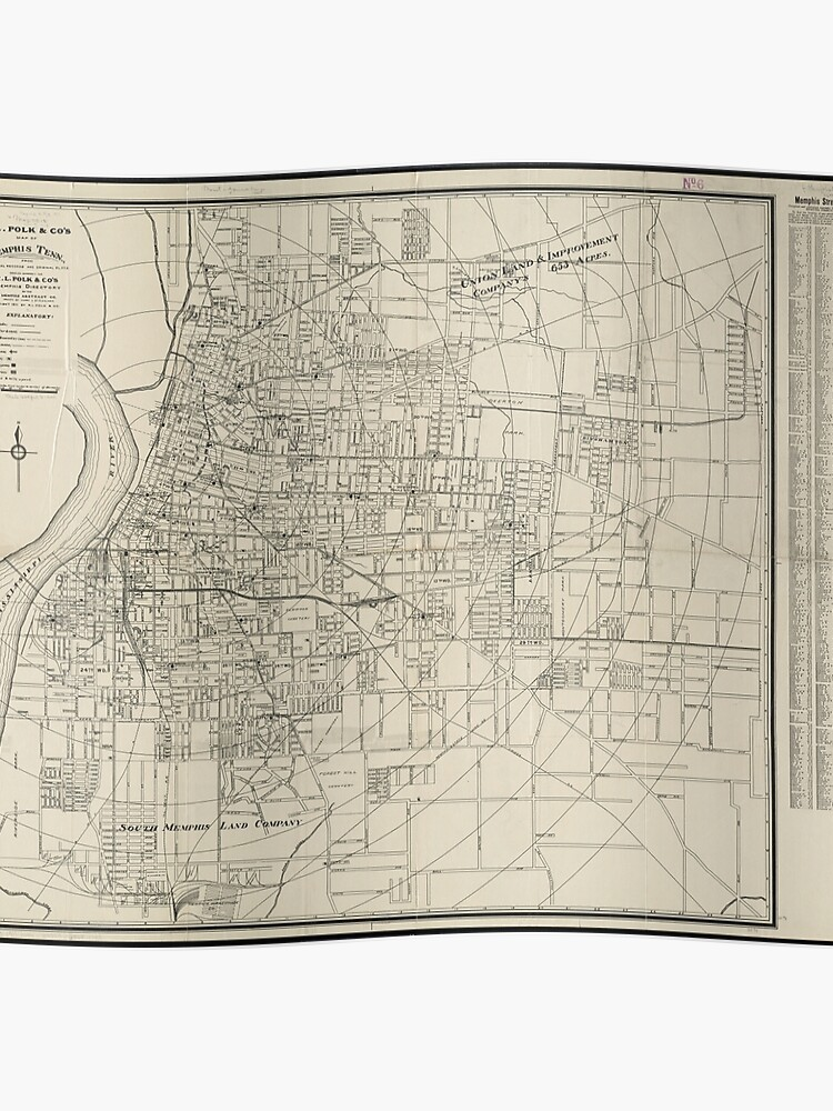 Vintage Map of Memphis Tennessee (1911) | Poster
