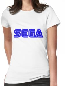 Blue Sega Logo Womens Fitted T-Shirt