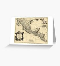 Vintage Map of Mexico (1779) Greeting Card