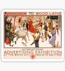 'London Underground' Vintage Poster (Reproduction) Sticker