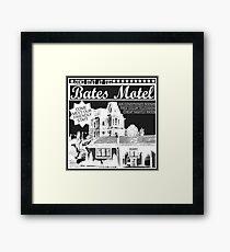 Bates Motel - White Type Framed Print