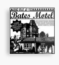 Bates Motel - Black Type Metal Print