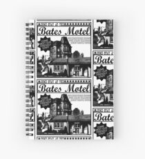 Bates Motel - Black Type Spiral Notebook