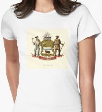 Historical Coat of Arms of Delaware Womens Fitted T-Shirt