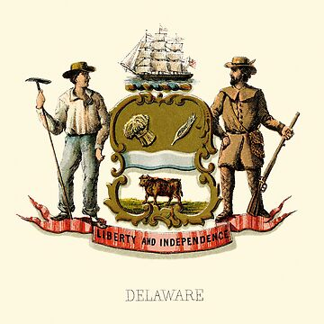 Historical Coat of Arms of Delaware by abbeyz71
