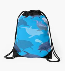 Aquaflage Drawstring Bag