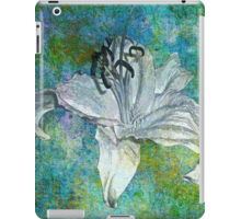 Quot White Lily On Blue Quot By Saundra Myles Redbubble