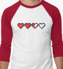 Two and a Half Hearts Remaining Men's Baseball ¾ T-Shirt