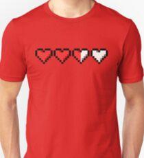 Camiseta ajustada Dos corazones y medio restantes