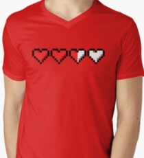 Two and a Half Hearts Remaining Men's V-Neck T-Shirt