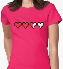 Two and a Half Hearts Remaining Women's Fitted T-Shirt