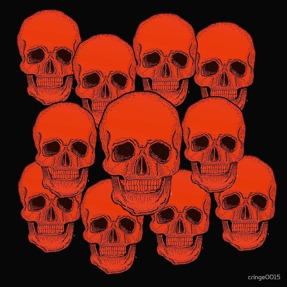 Orange Skulls   by cringe0015