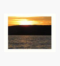 Sunset Over the Lake Art Print