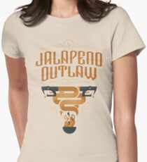 Jalapeno Outlaw SNAKE Womens Fitted T-Shirt