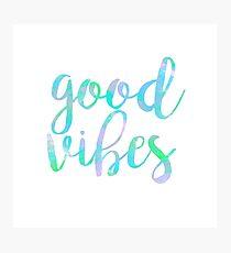 good vibes trendy free spirit laptop sticker Photographic Print