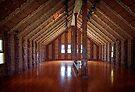 Te Whare Rūnanga interior by Yukondick