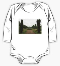 Peaceful Gray Symmetry - a Rainy Day in Regents Park, London One Piece - Long Sleeve