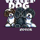Portuguese Water Dog Lover (Dark) by offleashart