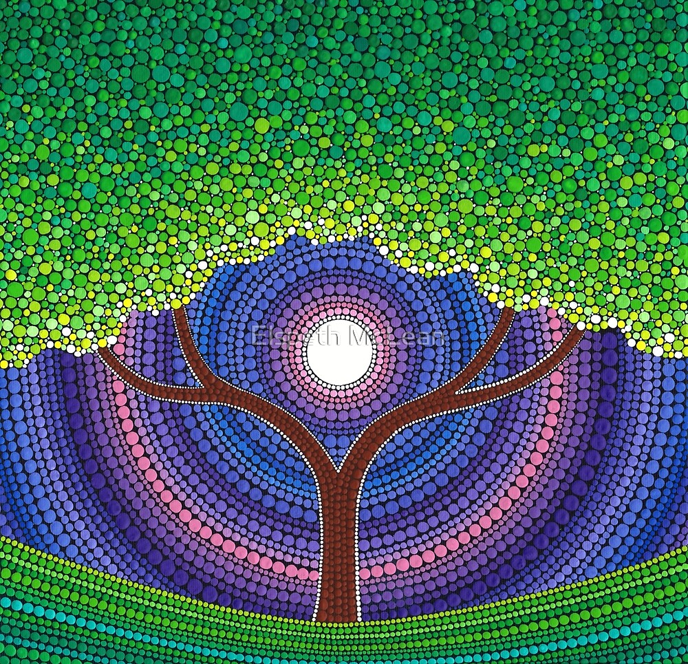 Quot Happy Tree Of Life Quot By Elspeth Mclean Redbubble