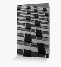 Rectangles abstract in black and white Greeting Card
