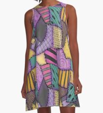 Patchwork Ragdoll A-Line Dress