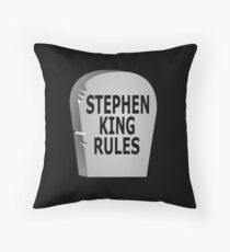 Stephen King Rules Throw Pillow