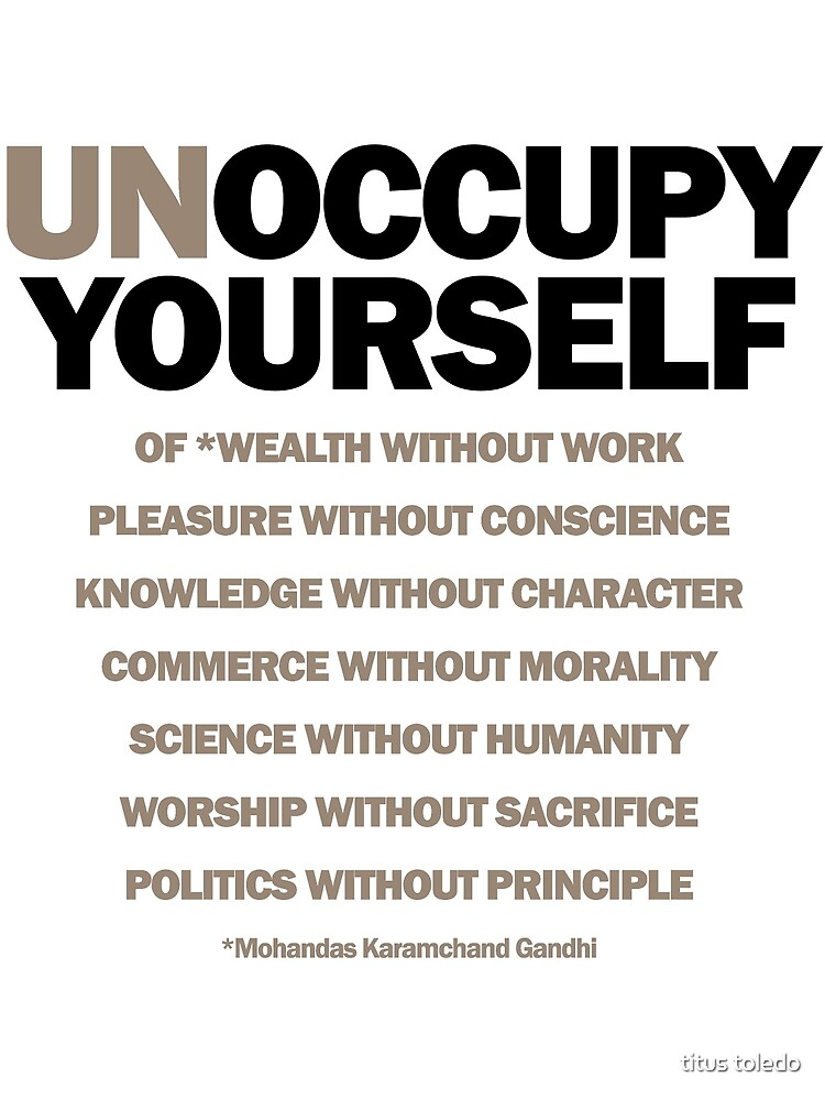 unoccupy yourself (version 2) by titus toledo