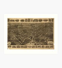 Vintage Pictorial Map of Middletown NY (1921) Art Print