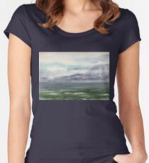 Ocean Storm Seascape Women's Fitted Scoop T-Shirt