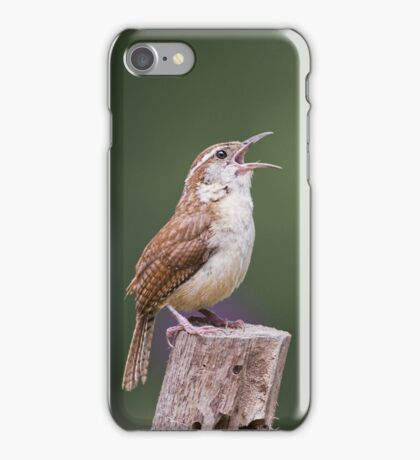 Singing his heart out iPhone Case/Skin